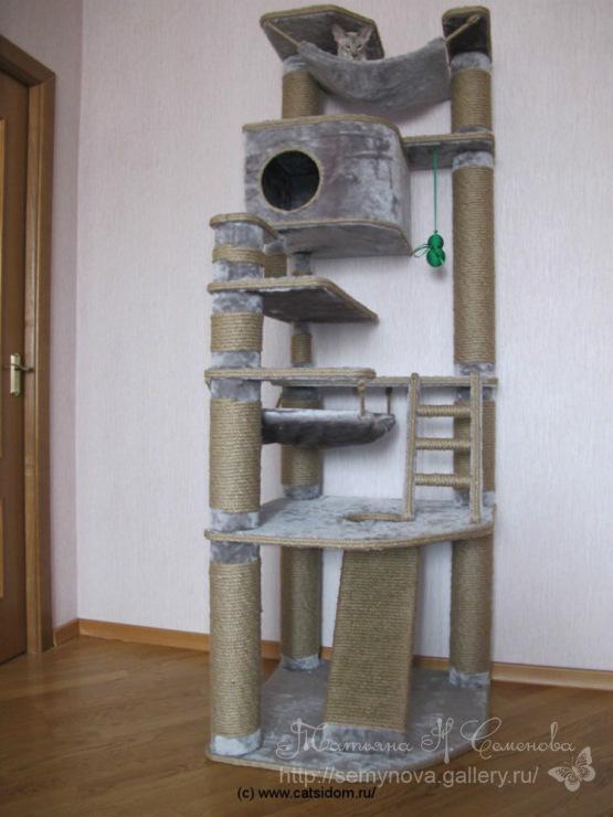 Фото домики для кошек своими руками