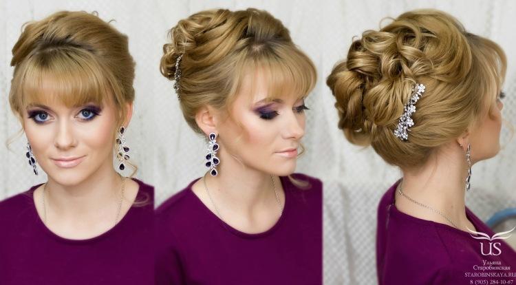 Прическа на средние волосы фото с челкой своими руками