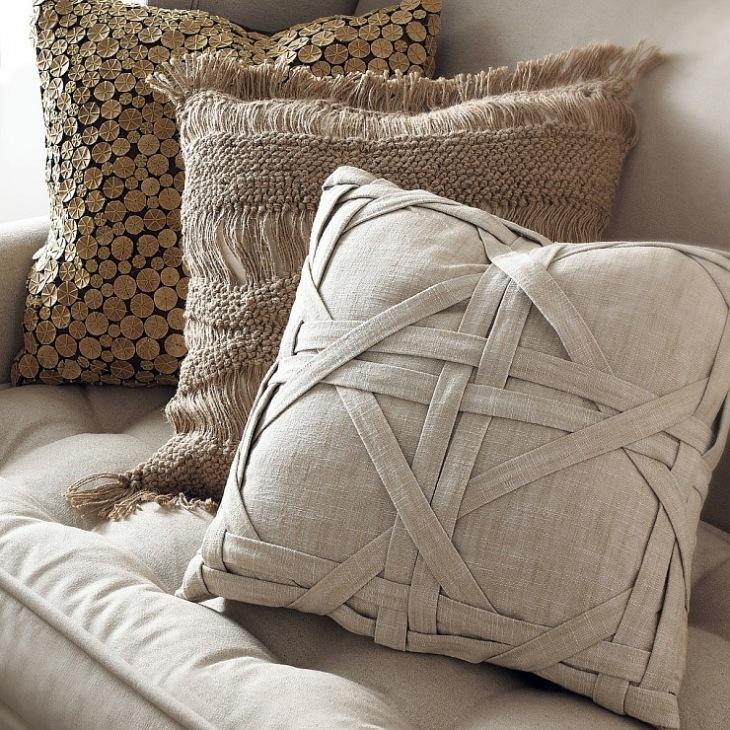 Декоративные подушки для дивана своими руками фото