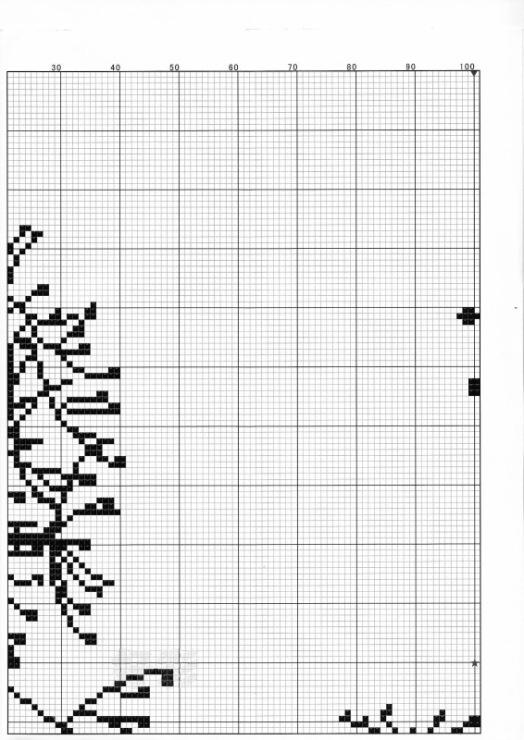Триптих деревья схема вышивки крестом 6